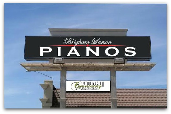 Brigham Larson Pianos State Street Sign in Orem