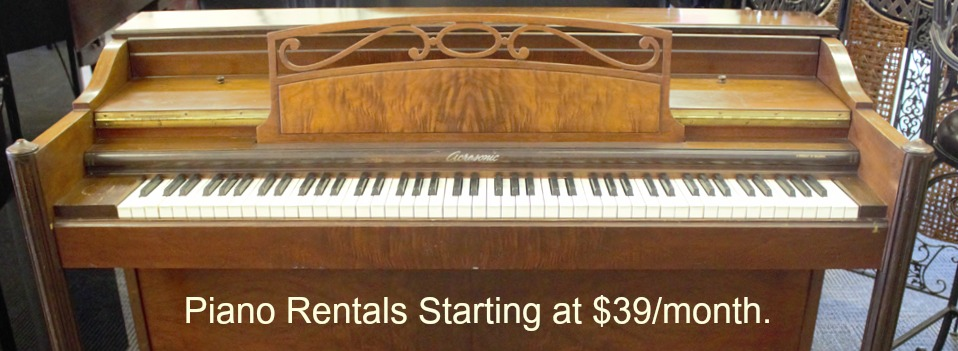 Piano Rental – Used and New Pianos!