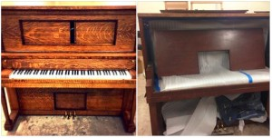 refinishing before & after