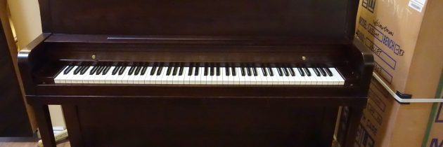 Just out of the shop! 1979 Everett 45″ Upright Piano