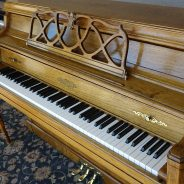 Just out of the shop! 1980s Chickering 42″ Upright Piano